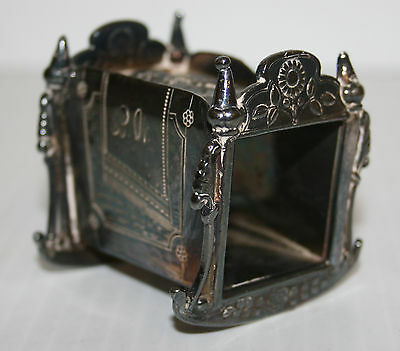 Victorian Silver Plated Napkin Ring Infant In Rocking Cradle James W Tufts #1620
