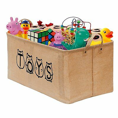"Gimars 20"" Well Holding Shape Jute Storage Basket Bin Chest Organizer - Perfect"