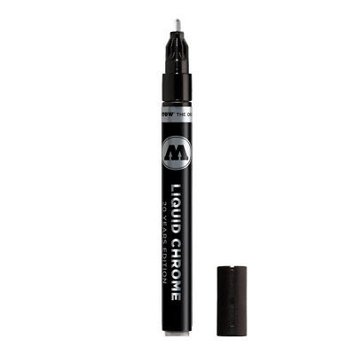 Molotow Liquid Chrome Marker 2mm refillable pump by Chartpak exchangeable tips