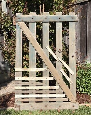Vintage Primitive Wooden Farm Gate ~ Vintage Gate ~ Architectural Salvage