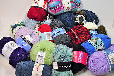 Large mixed lot of yarn #2 multi colors multiple brands & types 20 skeins