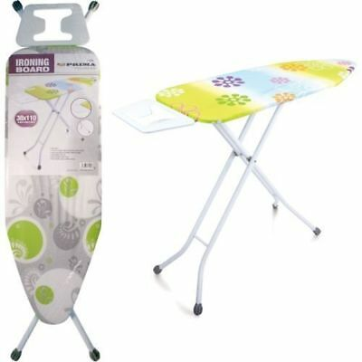 Deluxe Wide Metal Iron Ironing Board Home Table Height Rack Adjustable Non Slip