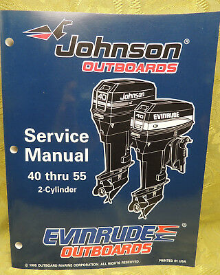 1996 Johnson Outboards Service Manual 40 45 48 50 55 HP Evinrude 2  Cylinder