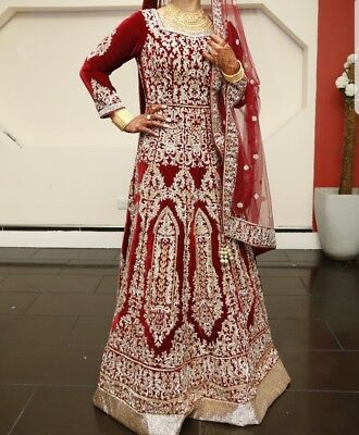 ASIAN BRIDAL wear, beautiful tailor made gown, designed by khusboos ...