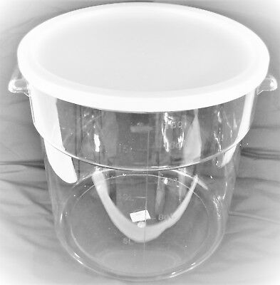 Clear Transparent Storage Bucket Bin Polycarbonate PC w Cover 18L 4.75 Gallons