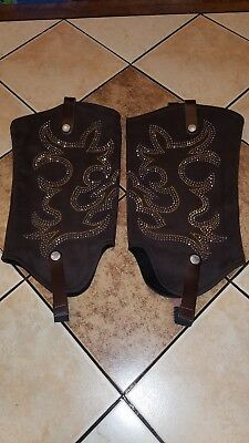 Boot Roxx Cover Brown Jeweled Rhinestones Medium M NWOT