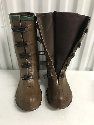 59064344beb SERVUS NORTHERNER BROWN Rubber Rain Farm Boots Overboots Size 7 Mens