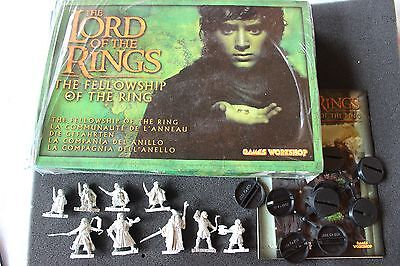 Games Workshop Lord of the Rings LoTR Fellowship of the Ring 9 Metal Figures NIB