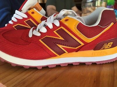 New Balance 574 Leisure Shoes Mens Size 7 Red/Yellow or Brown/Blue