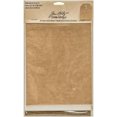 Tim Holtz Idea-ology Substrate Sheets - 9pcs Kraft, White & Brown TH93291