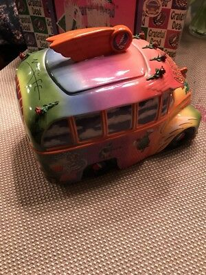 Grateful Dead Cookie Jar Limited Edition 40th Anniversary Tour Bus Vandor 2005