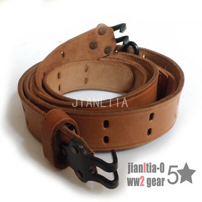 Repro US WW2 M1907 Rifle Leather Sling M1 Garand Springfield Strap