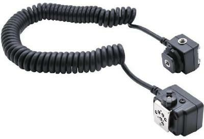 Heavy Duty Stretchable up to 7.5 Feet Off-Camera Flash Cords for Nikon Black