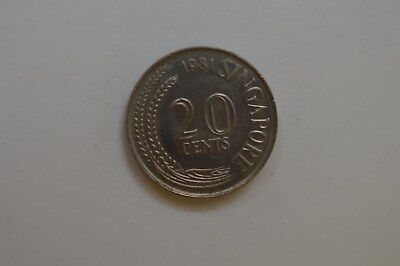Singapore 1981 20 Cent Coin
