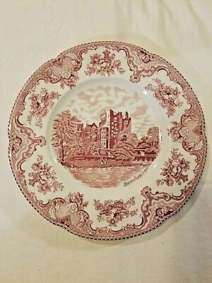 Johnson Bros England 1883 Old Britain Castles Flow Pink Dinner Plate