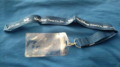 Disney Pin Lanyard Travel Company Id Pass Badge Holder