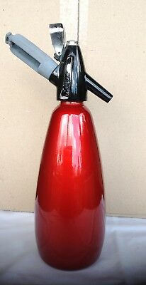 "Vintage BOC ""Sparklets"" Red Anodised Soda Syphon and Soda bulb dispenser"