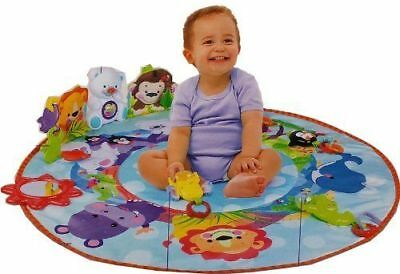 BEST SELLEING, 2 in1 BABY PLAY MAT ACTIVITY GYM KICK CRAWL FUN SOUNDS CARPET