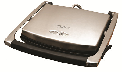 Nero SANDWICH PRESS 2000W Holds 4 Slices, Polished Stainless Steel Housing