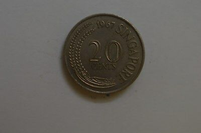 Singapore 1967 20 Cent Coin