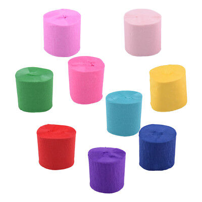 6Pcs Crepe Rolls Streamer Paper Party Wedding Celebration Birthday Decoration