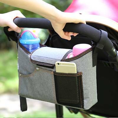 Baby Pram Stroller Pushchair Buggy Holder Storage Bag Cup Bottle Organizer