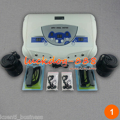 Dual MP3 Ionic Detox Cell Foot Bath Spa Cleanse Machine 2 Arrays ON SALE!!!