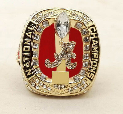 2017 2018 Alabama Crimson Tide Championship Ring National Champions Size 8-14
