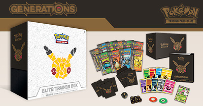 Pokemon Generations Elite Trainer Box Pikachu - SEALED with Free Express Post