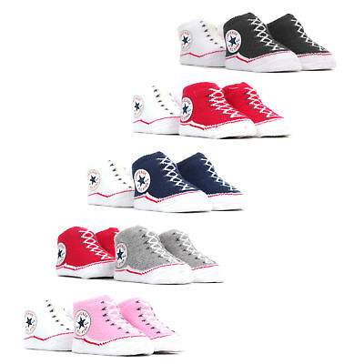Converse Chuck Taylor All Star Baby Sock Booties (2 Pack) - 0-6 Months