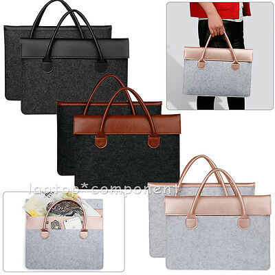 """Luxury Felt Carry Sleeve Bag Case Cover For MacBook Air Pro 11"""" 13"""" 15"""" Laptops"""