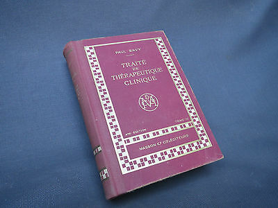 Antique book traité therapeutics clinic per P. SAVY tome 3 medicine