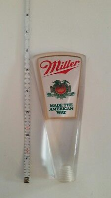 Mini Acrylic Miller Beer Tap Handle Made The American Way Vtg Old Style Logo