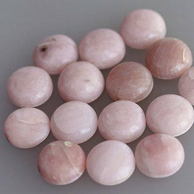 17MM Round Shape Natural Pink Opal Lot Cabochon Calibrated Jewelry Making AG-260