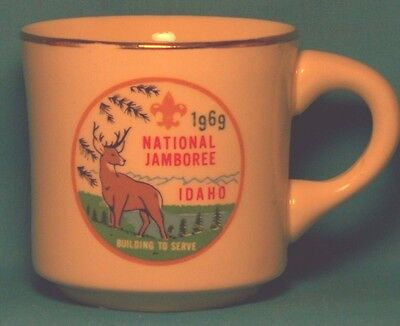 BOY SCOUTS National Jamboree Idaho 1969 Building to Serve COFFEE CUP / MUG