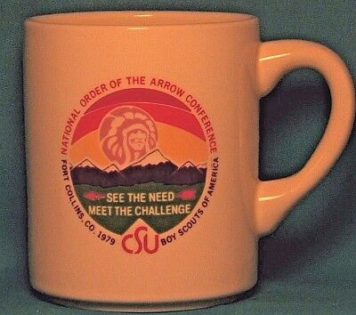 BOY SCOUTS National Order of the Arrow Conference 1979 COFFEE CUP / MUG