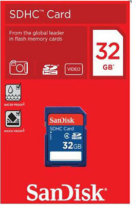 SanDisk 32gb SD Card SDHC HD Memory Card Class 4 32 GB for Digital Cameras Video