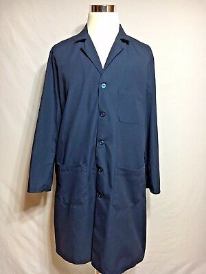 RED KAP Navy Blue Lab Coat Work Uniform Jacket Long Sleeve size 46rg   #KP14NV5
