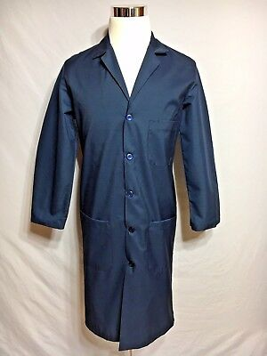 Wrangler Navy Blue Lab Coat Work Uniform Jacket Long Sleeve size 38 RG # KP52NV2