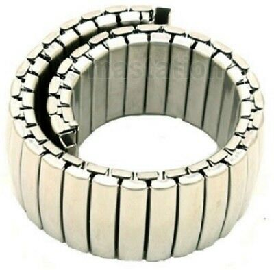 New 12mm - 20 mm Lug Chrome Expanding Stainless Steel Watch Strap Expandable