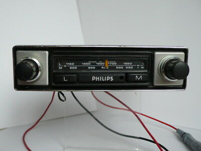Philips Car Radio  12 volt Shallow Compact Fit 1960's - '70's  with Speaker
