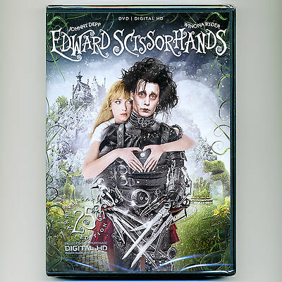 Edward Scissorhands 1990 PG-13 movie new DVD Johnny Depp Winona Ryder Tim Burton