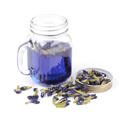 Pure Natural Dried Butterfly Pea Tea Blue Flowers Clitoria Ternatea EB