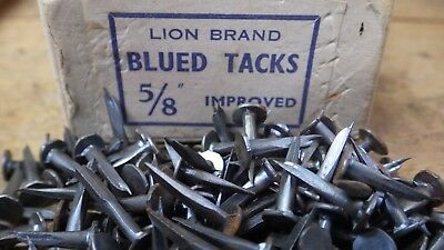 """75g 15mm 5/8"""" BLUED IMPROVED CUT TACKS CHUNKY UPHOLSTERY LION BRAND"""