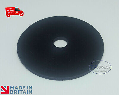 5 x Solid Neoprene Rubber Penny Washer 3mm thick - pick your own size