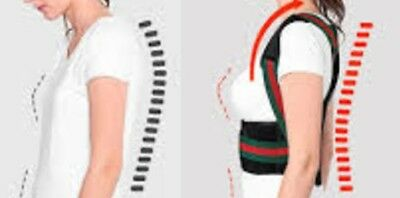 S M L XL XXL Black Back Shoulder Pain Posture Brace Magnets Belt Birthday Gift