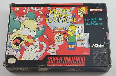 Krustys Super Fun House (USA NTSC – NOT FOR UK CONSOLES) (SNES)