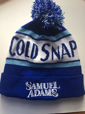 Samuel Adams Winter Hat Blue and White