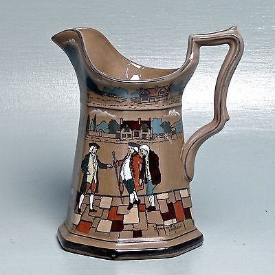 Antique Buffalo Pottery Deldare Pitcher - Signed WF - PT
