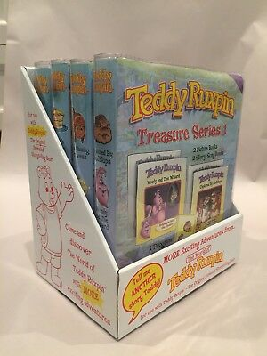 Teddy Ruxpin Lot Of 4 New Cartridge Sets 2006 Backpack Toys. Hard to find. NIB.